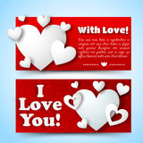Valentine`s day banners set. Design concept Royalty Free Stock Image
