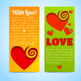 Valentine`s day banners set. Design concept Stock Photos
