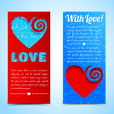 Valentine`s day banners set. Design concept Royalty Free Stock Photos