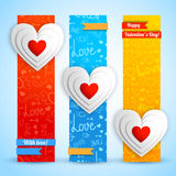 Valentine`s day banners set. Design concept Royalty Free Stock Photography