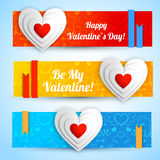 Valentine`s day banners set. Design concept Stock Photo