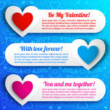 Valentine`s day banners set. Design concept Stock Photography