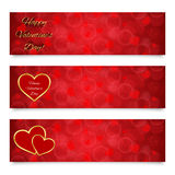 Valentines day banners Stock Photo