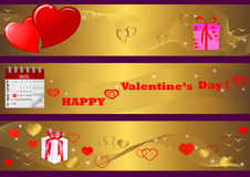 Valentine's Day banners. vector. Stock Photos