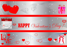 Valentine's Day banners. vector. Stock Image