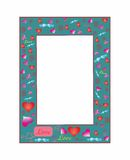 Valentine's day. Beautiful decorative frame with hearts. Royalty Free Stock Photography