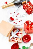 Valentine`s Day. A beautiful gift trip. Selective focus royalty free stock image