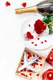 Valentine`s Day. A beautiful gift trip. Selective focus royalty free stock photography
