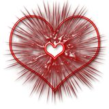 The heart. Valentine`s Day. Beautiful red heart with texture Stock Photography