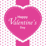 Valentine's Day and big heart on white background. Pink heart on Valentine's Day. Stock Image