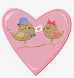 Valentines day birds Royalty Free Stock Image