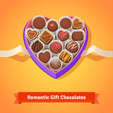 Valentine's day, birthday chocolates in box Stock Images