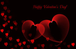 Valentine's day black background Stock Images