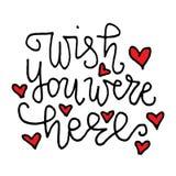 Valentine`s Day black ink  quote. Stock Image