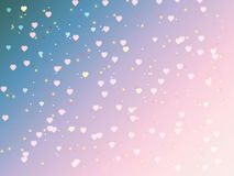 Valentine`s day bokeh background. Sunset dream colors and hearts.  illustration. EPS 10 Royalty Free Stock Photography