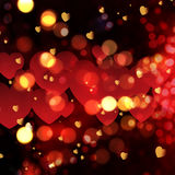 Valentine's Day bokeh lights background Royalty Free Stock Image