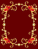 Valentine's day border Royalty Free Stock Images