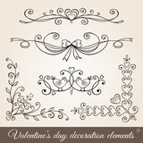 Valentine's day borders,corners and dividers. Royalty Free Stock Images
