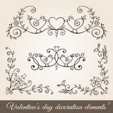 Valentine's day borders,corners and dividers. Royalty Free Stock Image