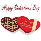 Valentines Day box of chocolate candy white background Stock Photography