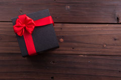 Valentine's Day: box gift with ribbons Stock Photo