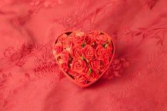 Valentine\'s day box rose Stock Photos