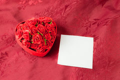 Valentine\'s day box rose Royalty Free Stock Image