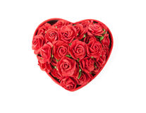 Valentine's day box rose Royalty Free Stock Image