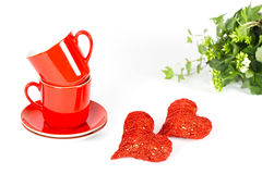 Valentine's Day Breakfast Decoration Royalty Free Stock Photo