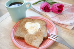 Valentine's Day Breakfast Stock Image