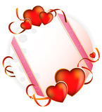 Valentine's Day. Bright greeting card Royalty Free Stock Photos