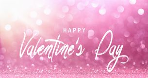 Valentine`s Day, Bright Pink Light Bokeh Effect royalty free stock photography