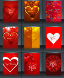 Valentine's day brochure background template collection presenta Royalty Free Stock Images