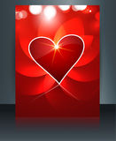 Valentine's day for brochure template heart background Royalty Free Stock Photos