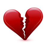 Valentine's day broken heart Stock Photography