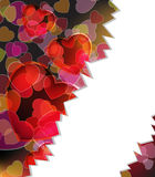 Valentine's day  broken hearts background Royalty Free Stock Images