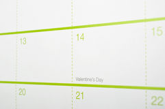 Valentine's Day, Calendar Royalty Free Stock Image