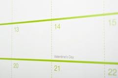 Valentine's Day, Calendar Royalty Free Stock Image