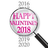 Valentine`s day calendar Royalty Free Stock Photo