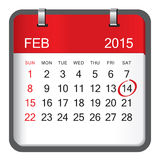 Valentine's day calendar Royalty Free Stock Photo
