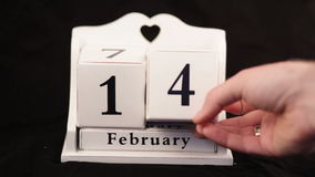 Valentine's Day Calendar stock video footage