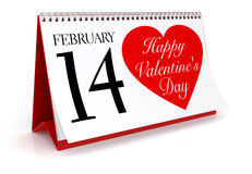 Valentine's Day Calendar Stock Photography