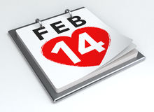 Valentine's Day Calendar Stock Photos