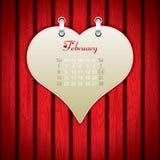 Valentine's Day calendar. Holiday vector Royalty Free Stock Photos