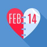 Valentine's Day Calendar Royalty Free Stock Photos