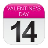 Valentine`s day calendar Royalty Free Stock Images