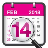 Valentine`s day calendar Royalty Free Stock Photography