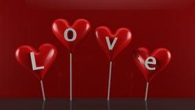 Valentine's Day Candies. 3d render of Valentine's Day Candies Stock Images