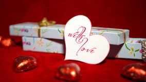 Valentine's Day Candies and Gift 4K stock footage