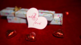 Valentine's Day Candies and Gift Zoom 4K. Valentine's Day Candies and Gift Zoom stock video